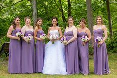 Pretty lavender bridesmaids dresses