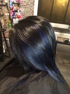 Black and blue color and highlights. #alloxi #kreationsbykatie