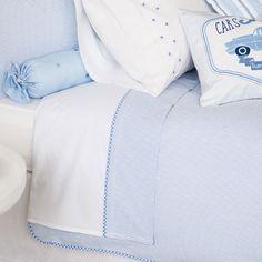 BLAUWE SEERSUCKER LAKENS EN SLOPEN - Lakens en Hoezen - Bed | Zara Home Netherlands