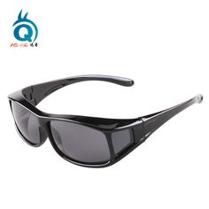 aab03a7405 Polarized Lens UV400 fit over Sunglasses. Wear Over Prescription Glasses.  For Men and Women