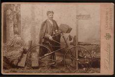 Fahrrad, Hartpappe - Foto / Fotografie, 1892