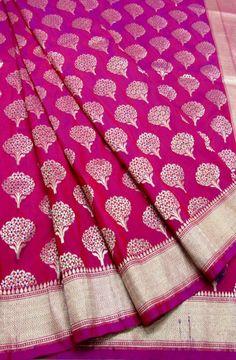 Shop online for Pink Handloom Banarasi Georgette Silk Saree Banaras Sarees, Handloom Saree, Patiala, Sari Design, 2d Design, Indian Silk Sarees, Saree Wedding, Bridal Sarees, Indian Textiles