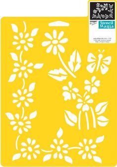 Stencil Mania Stencil 7 X10 -Floral Accents