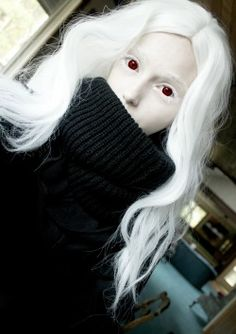 Quick Cosplay as Shiro from Deadman Wonderland if she wore black