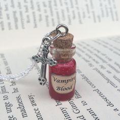 Vampire Blood Bottle Necklace / Pendant / Bookmark / Earrings / Decoration / Keyring inspired by Supernatural by EnchantedBottleCraft on Etsy