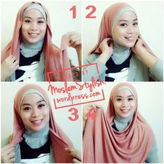 Hijab Tutorial for Simple Cotton Shawl