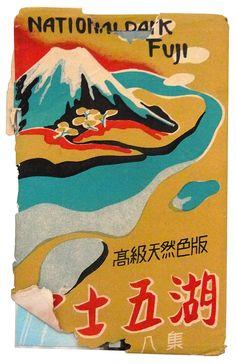 Mid-century souvenir postcard envelopes from Japanese vacation destinations.