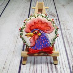 Купить пряник имбирный расписной на Новый год Куринный Босс - пряник расписной, пряники ручной работы