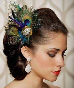 Peacock Wedding Bouquet Ideas | 30+ Peacock Wedding Ideas – Hair Accessories, Bouquets www.serenity-weddings.com