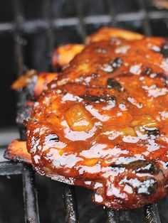Tangy Sweet Pineapple BBQ Spare Ribs - Good recipe! If you can't find pineapple preserves, I recommend a can of crushed pineapple in heavy syrup.  Add 3 Tablespoons of sugar, then crush/mix further and put it in the fridge while the ribs are cooking.  Really good recipe though!