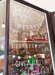 Store window displays, shop interior design, window stickers, window art, s Design Salon, Shop Interior Design, Store Design, Window Display Design, Store Window Displays, Retail Displays, Merchandising Displays, Exterior Signage, Store Windows