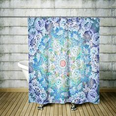 """Boho Chic Shower Curtain Optional Bath  Mat Bathroom Set """"Gypsy Dreams"""""""