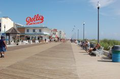 Rehoboth Beach, Delaware - Boardwalk - Lantern Press Photography (Art Print Available) Rehoboth Beach Boardwalk, Rehoboth Beach Delaware, East Coast Beaches, Beach Tops, Vacation Spots, Wall Murals, Dolores Park, Street View, Travel