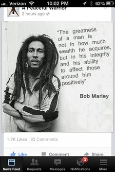Bob Marley Wisdom Quote Simple Truths