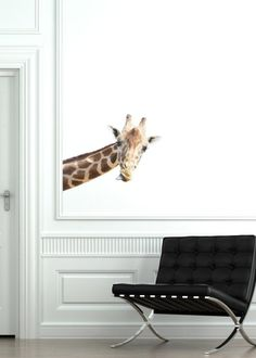 Giraffe Wall Sticker Reusable Removable by SolanaGraphicStudios, $28.00