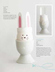 Easter crowns and bunny ears - DIY with template - Sweet Paul Magazine - Spring 2012 Diy For Kids, Crafts For Kids, Diy Crafts, Spring Crafts, Holiday Crafts, Holiday Decorations, Easter Bunny Eggs, Sweet Paul, Diy Ostern