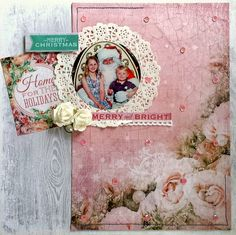 Kaisercraft : Silver Bells Collection : DT finalist entry 2015 / 16 : Merry& Bright layout by Amanda Baldwin