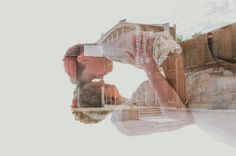 www.erynnchristinephotography.com | wedding photography | double exposure | downtown | city wedding | KC