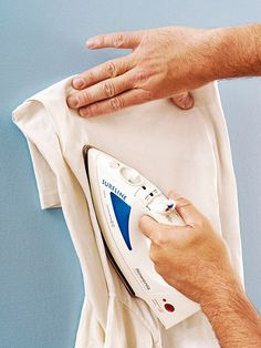 Getting crayon marks off painted walls: The best way to remove these stains is to fold an old T-shirt into a pad several layers thick and place it over a crayon mark, then set an iron at medium heat and run it over the pad.