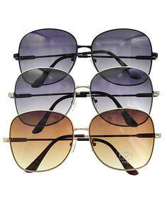 Metalic / Black & Brown / 1 Dz Packed Item / Classic Fashion Sunglasses / Uv400