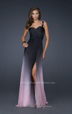 Ombré purple gown