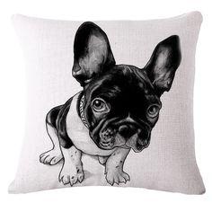 AliExpress Continental stay Meng French Bulldog series IKEA sofa cushion cotton cushion pillow