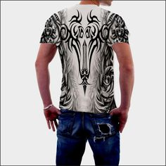 Custom tribal all over printed tee Price $64.95 AUD click the link in my bio  ----> @soulkreedclothing and get yours now. Sign up to our newsletter and get 15% off all purchases. Stand out from the crowd with one of these outlandish tee's! 100% polyester construction Durable rib neckband Fabric weight: 4.5 oz/yd² (153 g/m²) 30 singles thread weight Unisex Superior sublimation results  #tribal #tribalprint #tribalfashion #tribaldesign #tribaltattoo #tribaltattoos #trib..