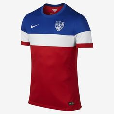 0bbbf3fff01 Nike USA 2014 Authentic Away Soccer Jersey (University Red Football White Game  Royal)
