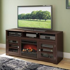 Found it at Wayfair - West Lake TV Stand with Electric Fireplace