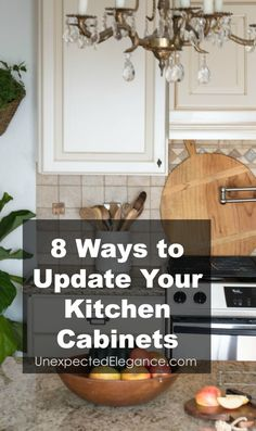 Does your kitchen need an update, but you can't afford to ripe out the cabinets? Does your kitchen need an update, but you can't afford to ripe out the cabinets? Check out these 8 ways to update kitchen cabinets without spending a fortune! Update Kitchen Cabinets, Kitchen Upgrades, Painting Kitchen Cabinets, Diy Cabinets, Kitchen Redo, Kitchen Ideas, Kitchen Remodeling, Remodeling Ideas, Kitchen Staging