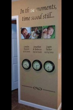 Touching idea.  The clocks are stopped on time the event occurred.  Love this!