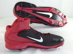 Nike 599235-016 Air Huarache Pro 3/4 Mid Metal Baseball Cleats Men's Size 13 NEW