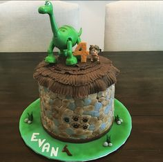 The Good Dinosaur custom cake