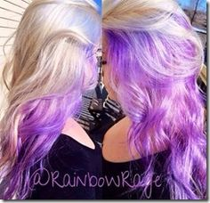 radiant orchid with blonde