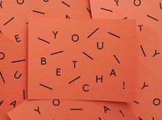 Typography / Greeting Cards | Vitae Design
