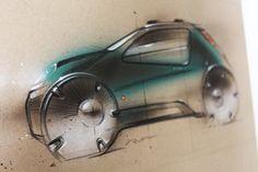 Mini cooper concept sketch, art, paper, acryl, airbrush, pencil , automotive art, transoprt desig, car design