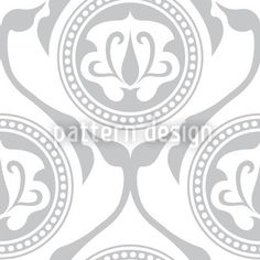 Light Morocco designed by Martina Stadler, vector download available on patterndesigns.com Tile Design, Pattern Design, Decorative Tile, Vector Pattern, Surface Design, Tribal Tattoos, Colours, Black And White, Floral