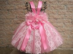 PRINCESS PINK LACE. Tutu Dress. Birthday Dress. by ElsaSieron