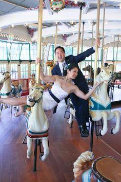 San Francisco carousel wedding