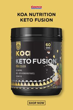 Koa Nutrition Keto Fusion, Ounces Supports Ketogenic DietKeto Fusion Ketogenic Blend with goBHB and 2000 mg. Coconut Oil PowderVegan Friendly, Gluten FreeBlends Easily with Smoothies & Other LiquidsPina Colada Flavor Nutrition Information, Nutrition Guide, Health And Nutrition, Holistic Nutrition, Oil Shop, Pina Colada, Roasted Vegetables, Pumpkin Recipes