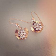 Gold Rhinestone Flower Dangle Earrings Gorgeous gold flower earrings with rhinestone details. Worn a few times but in good condition! Subtle and beautiful. LOFT Jewelry Earrings