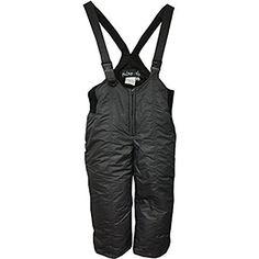 Pulse Preschool Boy's Classic Taslon Ski Bib - Black (Large). Snowtac Nylon. 5 Ounce Needle Punch Polyester. Pass Loop. Zippered Front.