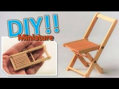 DIY /How to make a miniature folding chair(actually works) - YouTube