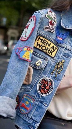 #patches #denim #jacket