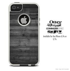 The Dark Wood Skin For The iPhone 4-4s or 5-5s Otterbox Commuter Case