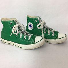 a6788bc86a2b Converse All Star Green High Top Tennis Shoe Women 8 Men 6 All Star Chuck  Taylor