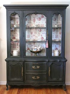 No need to roll up your sleeves, this French china cabinet by La Vantte Home has already been re-finished and re-painted giving you plenty of storage solutions in a very pretty package. Now all you need is some china!  $785.