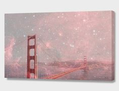 """""""Stardust Covering San Francisco"""", Numbered Edition Canvas Print by Bianca Green - From $89.00 - Curioos"""