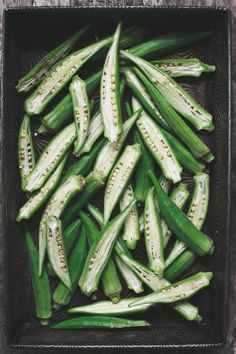 I adore okra... I remember picking buckets and buckets of these beauties in my grandmother's small garden in Louisiana | Tartelette