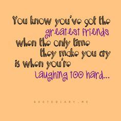 Ahhh Erin, Sara, Jenny, Caroline all my nursing school family...you gals totally make this true.
